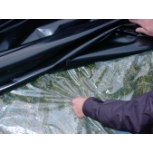 Podkladní transparentní plachta/ folie 10x50m